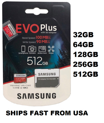 $22.68 • Buy Samsung EVO+ Micro SD Card Memory Card 32GB 64GB 128GB 256GB 512GB Wholesale Lot