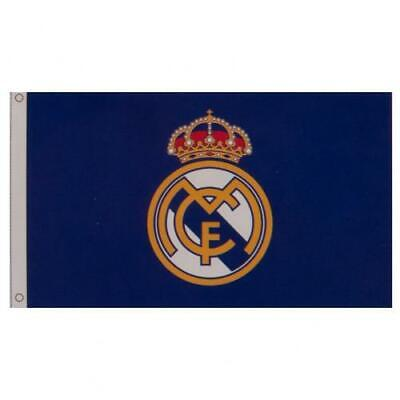 Real Madrid Fc Crest Core Design 5'x3' Flag - Official Football Gift • 8.50£