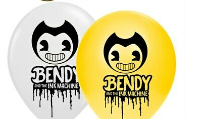 Bendy And The Ink Machine Themed Printed Latex Balloons Kids Birthday Party Deco • 3.20£