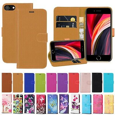 For Apple IPhone SE 2020 PU Leather Magnetic Wallet  Flip Stand Phone Case Cover • 3.25£