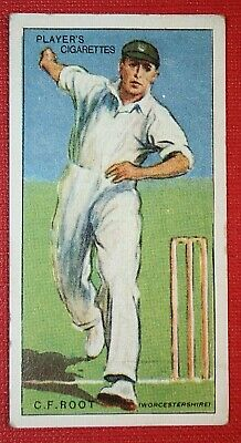WORCESTERSHIRE & ENGLAND  Cricketer  Fred Root  Original 1930 Card   • 2.99£