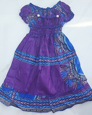 Lovely African Print Girls Summer Dresses Size 3-5 Years • 13£