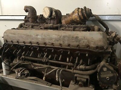 AU16000 • Buy Rolls Royce Meteor V12 Rebuilt Engine Similar To Rolls Royce Merlin Engine