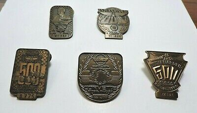 $69 • Buy Indy 500 Bronze Pit Badges 1991, 92, 94, 95 And 97