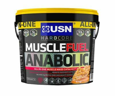 USN Muscle Fuel Anabolic 4kg Protein Powder Shake (Caramel Peanut Flavour) • 45.94£