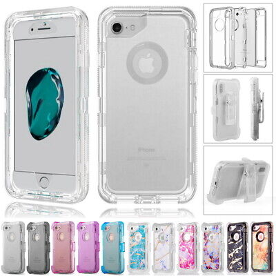 AU13.99 • Buy IPhone X XS XR 6 7 8 Plus 11 Pro Max Transparent Clear Defender Cover Case +Clip
