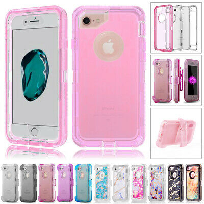 AU13.99 • Buy IPhone X XS 8 7 6 Plus 11 Pro Max Transparent Clear Defender Cover Case + Clip