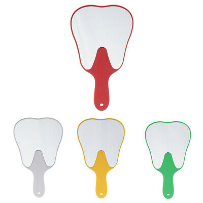 Plastic Tooth Shaped Hand Held Cosmetic Makeup Mirror Dental  Gift • 4.24£