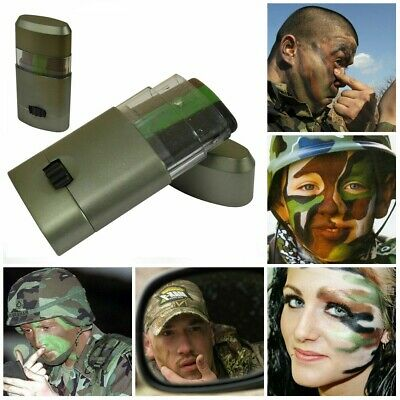 Camouflage GI/Army/Military Wind Out 3 Colour Pocket Face Paint Stick Dress Up • 2.69£