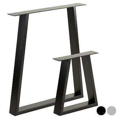 Hartleys Set Of 2 Industrial Metal Trapezium Table Legs Dining/Bench/Office/Desk • 54.99£
