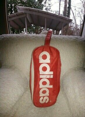 $9 • Buy Vintage ADIDAS Shoe Bag - Red! Great For Your Soccer Boots Or As A Toiletry Kit!