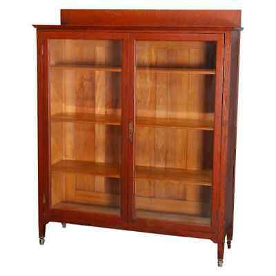 $1087.50 • Buy Arts & Crafts Stickley School Mission Oak And Glass Enclosed Bookcase Circa 1910