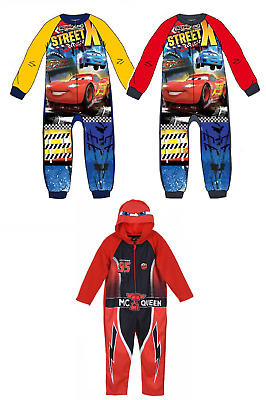 Boys Disney Cars All In One Pyjamas Children Fleece Nightwear Age 2-8 Years • 19.99£