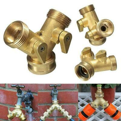 AU16.99 • Buy Brass Barbed  Y  Hose Tap Connector Snap Threaded Garden Fitting Water M4S4