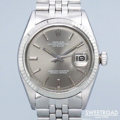 $ CDN8239.03 • Buy Rolex Oyster Perpetual Datejust 1601 Vintage Cal.1570 SS Automatic Mens Watch