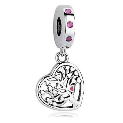 AU26 • Buy Family Tree Love Heart S925 Sterling Silver Charm Pendant By Pandora's Kings