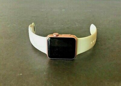 $ CDN50.34 • Buy Apple Watch Series 1- 38mm WR-IPX7 Aluminum Rose Gold (iCI0UD L0CKED) For Parts