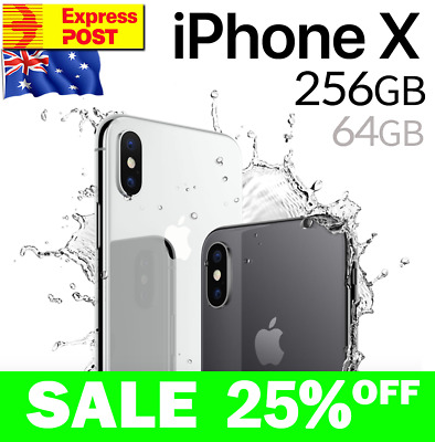 AU639 • Buy Apple IPhone X Ten 10 256GB 64GB Space Grey Silver EXCELLENT Unlocked Smartphone