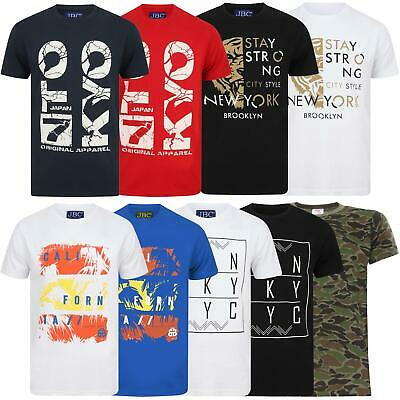 £5.99 • Buy Mens Printed T Shirts Short Sleeve Crew Neck Tee Top Cotton Casual T Shirt S-3XL