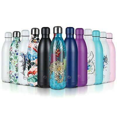 £11.99 • Buy Stainless Steel Water Bottle Double Wall Insulated Vacuum Gym Metal Flask Sports