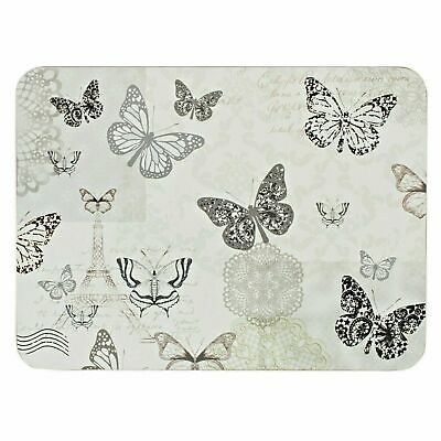 Set Of 6 Place Mats & Coasters Butterfly Design Dining Table Mats Drinks • 19.99£