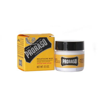 PRORASO Moustache Wax 15 Ml, Wood And Spice • 12.13£