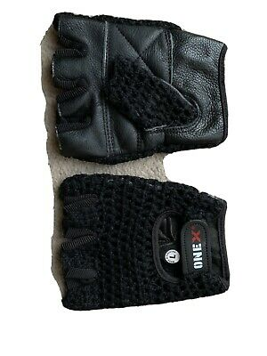 Gold's Gym Mesh Back Weight Lifting Gloves-Size L-Cotton Mesh Back/Leather Palm • 6£