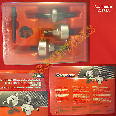 $389.99 • Buy New Snap On Power Steering & Alternator Pulley Puller / Installer Set CJ3PSA