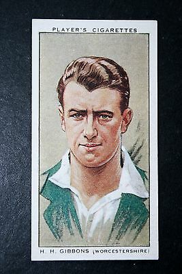 Worcestershire CCC   Gibbons    Vintage Cricketer Card  # VGC • 2.50£