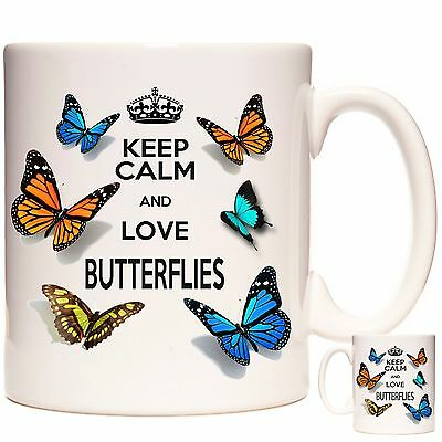 £12.99 • Buy BUTTERFLY Gift Coffee Mug / Tea Cup. Kazmugz Exclusive. Keep Calm And Love..
