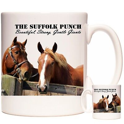 SUFFOLK PUNCH SHIRE HORSE Gift Coffee Mug / Tea Cup.  Kazmugz Exclusive. • 12.99£