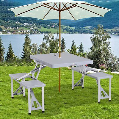 Folding Camping Table And Chairs Set Picnic Dining Furniture Outdoor Portable • 86.99£
