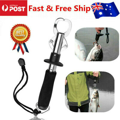 AU18.99 • Buy Fish Lip Grabber Gripper Grip Holder Tool Stainless Steel Fishing Gear 15KG