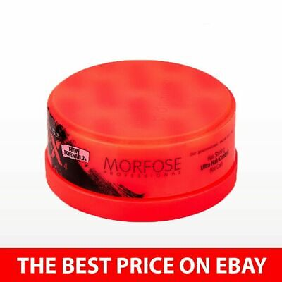2 X MORFOSE RED NEON HAIR STYLING WAX ULTRA STRONG GEL STRAWBERRY SCENT 150ML • 7.99£