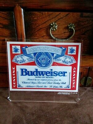 $ CDN19.55 • Buy Budweiser King Of Beers Neon On Acrylic Sign, Traditional Sign, 1989