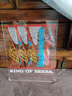 $ CDN12.63 • Buy Budweiser King Of Beers Neon On Acrylic Sign, Hands Pulling Bowtie, 1989