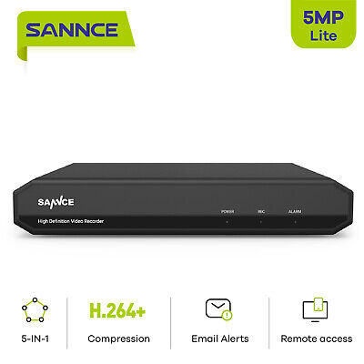 AU113.99 • Buy SANNCE 5IN1 8CH 5MP Lite DVR CCTV Video Recorder HDMI For Security Camera System