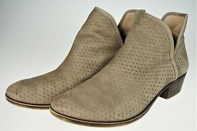 $20.79 • Buy 9.5 Lucky Brand Brooklin Perforated Suede Bootie Ankle Boot Brown Slip On