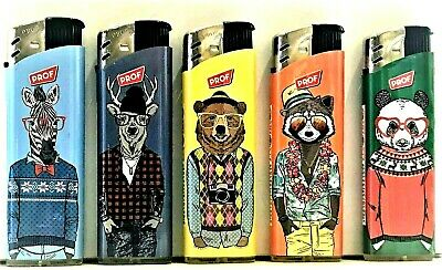 £3.75 • Buy 5 X Electronic Lighters By Prof Animals