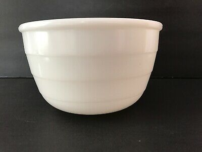 """$12 • Buy Vintage GE Milk Glass Mixing Bowl Ribbed 7 & 1/4"""" Wide 4 & 1/2  Tall EXCELLENT"""