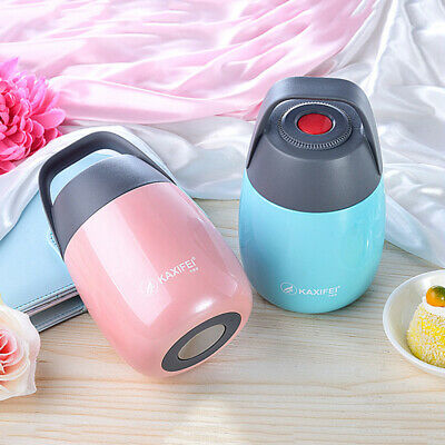 AU31.44 • Buy Stainless Steel Insulated Thermos Soup Mug Carry Tote Bag Lunch Box Food Jar