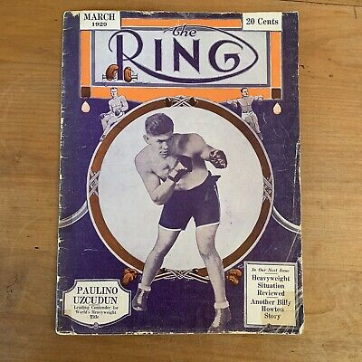 $68.79 • Buy The Ring Boxing Magazine March 1929 RARE Vtg