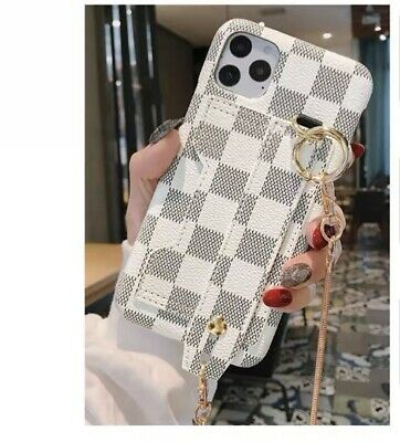 AU38.30 • Buy Checkered Phone Case With Card Compartment Hand Holder Bag Chain