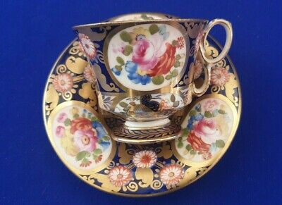 Early 20th C Circa 1905 Crown Staffordshire Hand Painted Cabinet Cup/Saucer • 68£