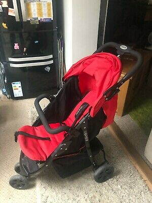 Obaby Tour 3 Wheeler Pushchair - Black And Red - Used - £39 (RRP:£104.99) • 39£