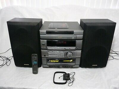 $350 • Buy AIWA CX-ZR325 STEREO SYSTEM 5 CD DISC CHANGER/DUAL CASSETTE W/ SPEAKERS & Remote