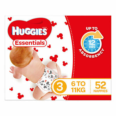 AU16 • Buy NEW Huggies Essential Stage 3 Crawler - 52 Pack