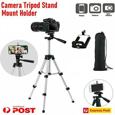 AU12.96 • Buy Professional Camera Tripod Stand Mount + Phone Holder For Phone IPhone Samsung