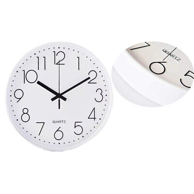 AU18 • Buy Wall Clock Quartz Round Wall Clock Silent Non Ticking Battery Operated 12 Inch
