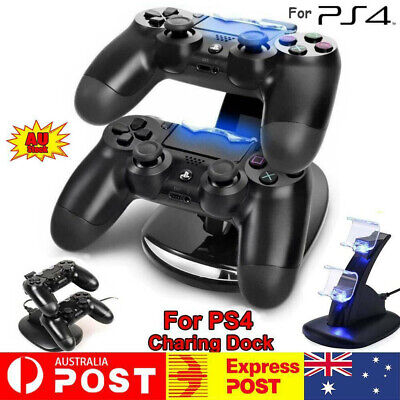 AU13.37 • Buy For Playstation 4 PS4 Controller Charger Dock Dual Stand Charging Station Pad